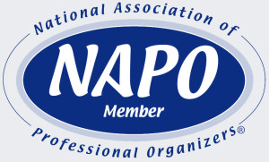 Julie Ulmer is a member of NAPO, the National Association of Professional Organizers