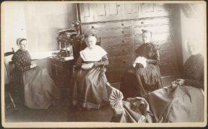 Sisters sewing room