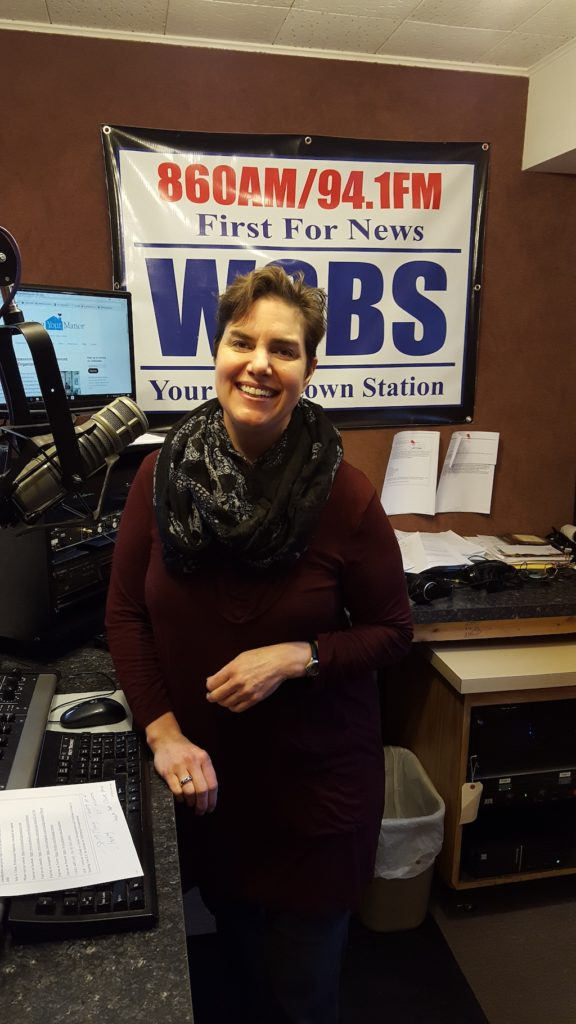 Julie Ulmer in a radio studio